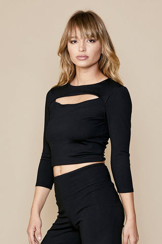david lerner cut out crop top