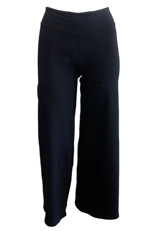 david lerner wide leg crop pant black