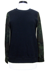 drew noa top black/camo