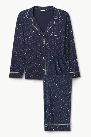 eberjey gisele long pj set starlight ivory