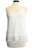 ecru tank with sequins white
