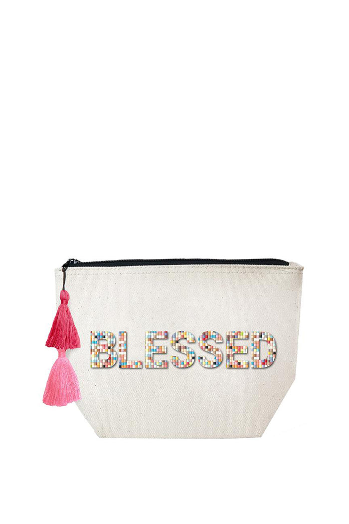 fallon & royce blessed confetti bead pouch