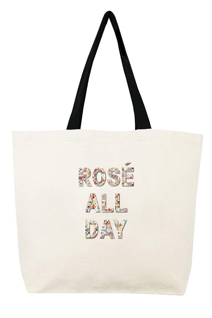 fallon & royce rose all day confetti bead tote