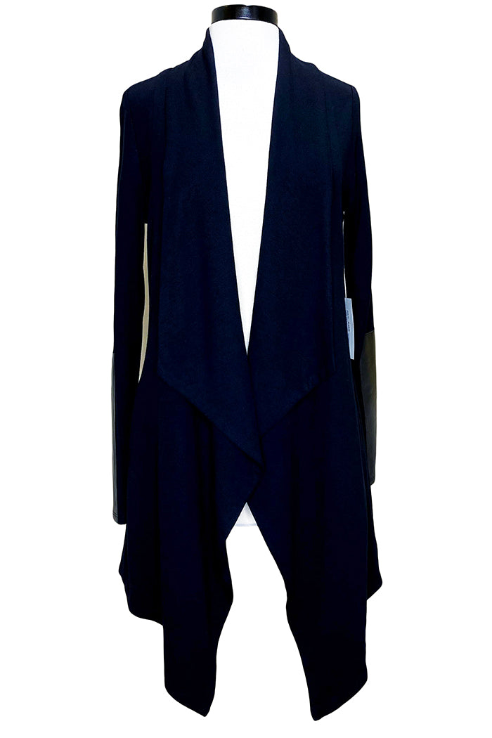 fifteen twenty long angled hem jacket black