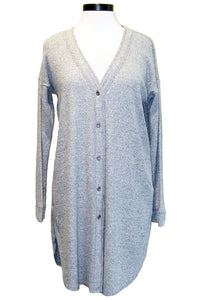 fifteen twenty long cardigan grey