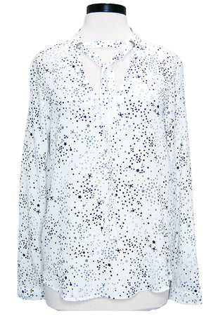 fifteen twenty tie neck top white stars