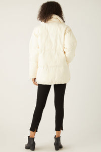 fifteen twenty long puffer jacket