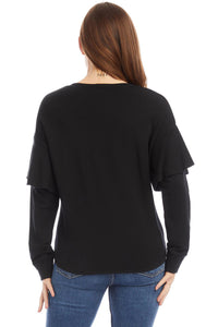 fifteen twenty ruffle sleeve top