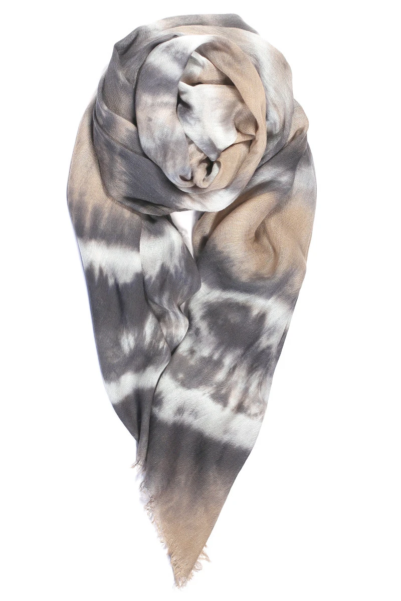 fig & bella gauze scarf pebble double knot