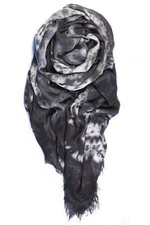 fig & bella gauze scarf grey modern camo