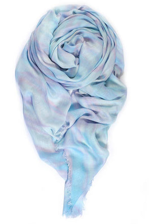 fig & bella gauze scarf sea breeze reed