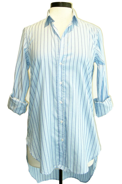 frank & eileen grayson blue with navy stripe