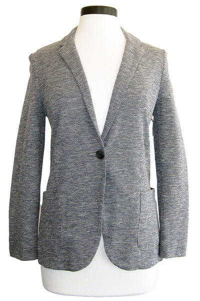 getting back to square one blazer heather blue