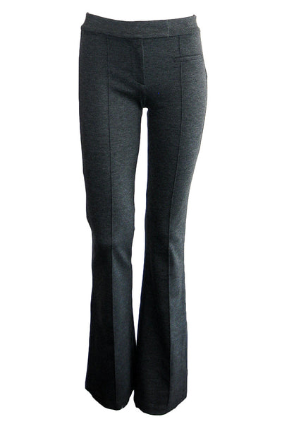 getting back to square one pintuck flare pant charcoal grey