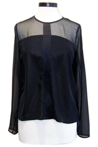go silk go all an illusion top washed black