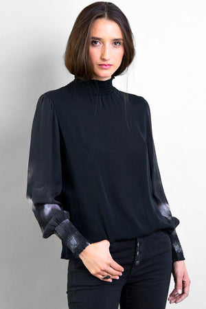 go silk go smock neck top