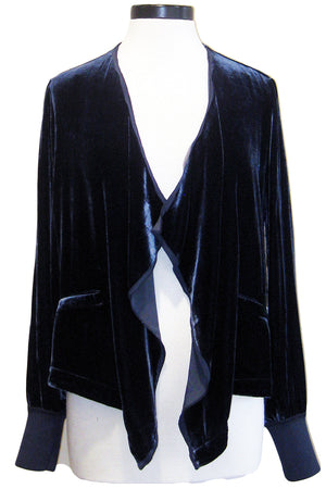 go silk go velvet waterfall jacket ink