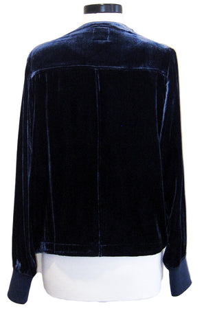 go silk go velvet waterfall jacket