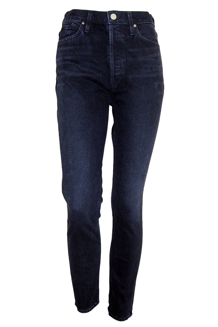 goldsign the high rise slim jean used black