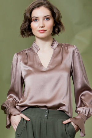 go silk go get refined blouse misty rose
