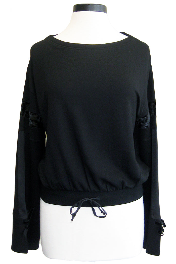 grey state zadie top black