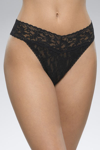 hanky panky rolled signature lace original rise thong (more colors available)