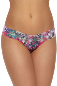 hanky panky rolled pretty in peony low rise thong