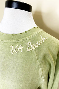 i stole my boyfriend's shirt desert breeze 'va beach' sweatshirt