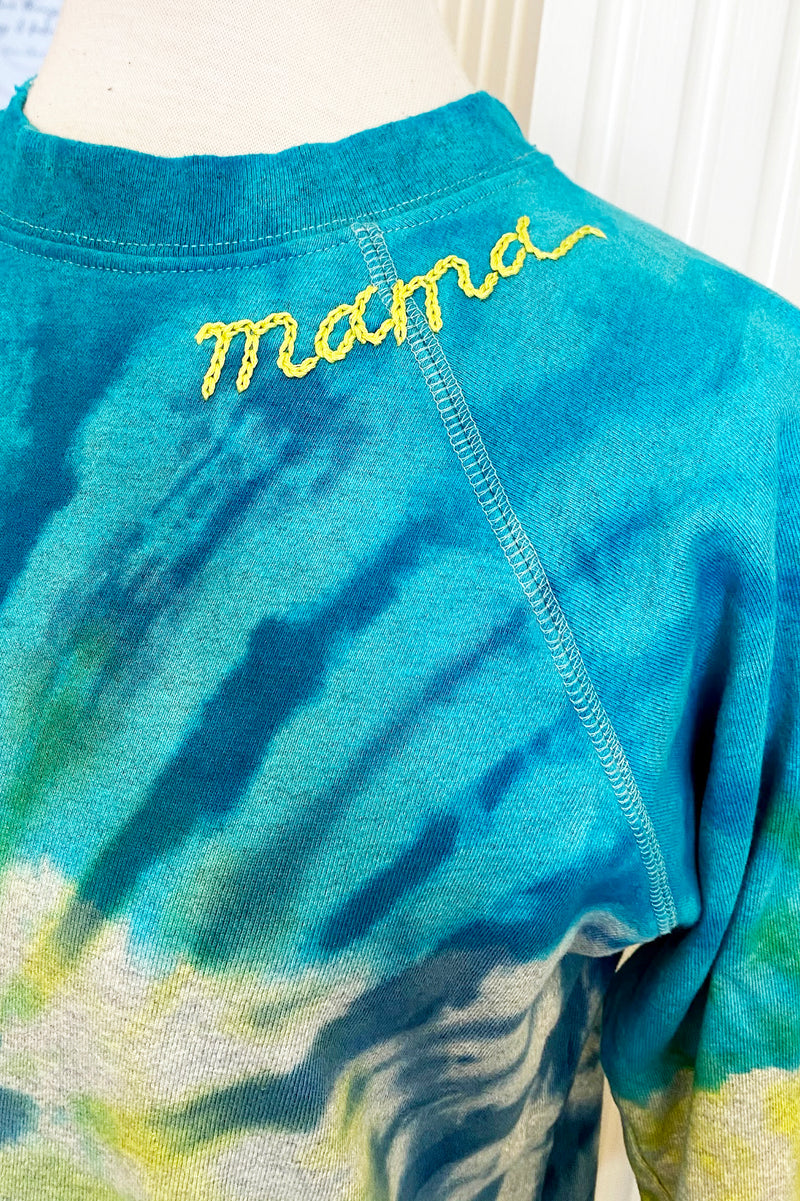 i stole my boyfriend's shirt prismatic mama sweatshirt blue