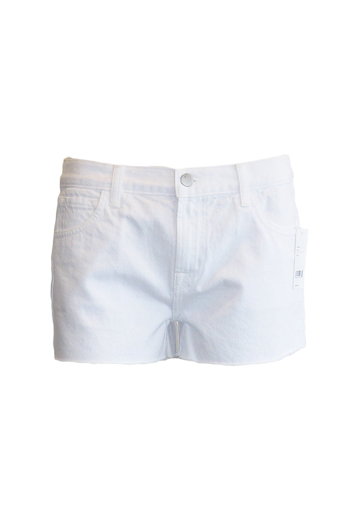 j brand low-rise short white