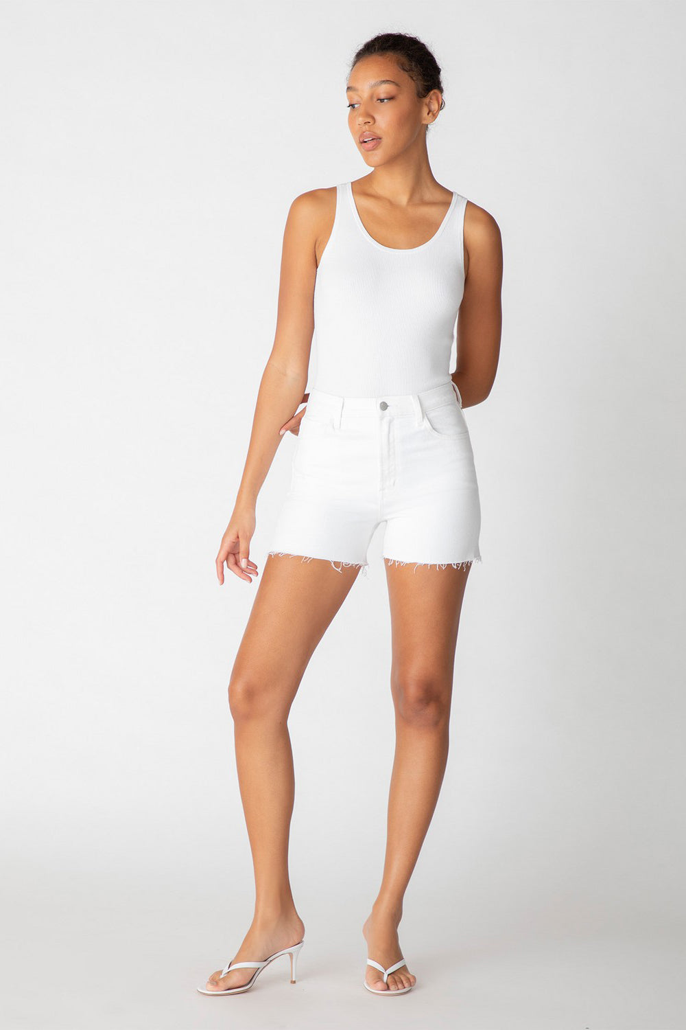 j brand jules short white
