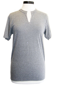 jet diamond fitted tee grey