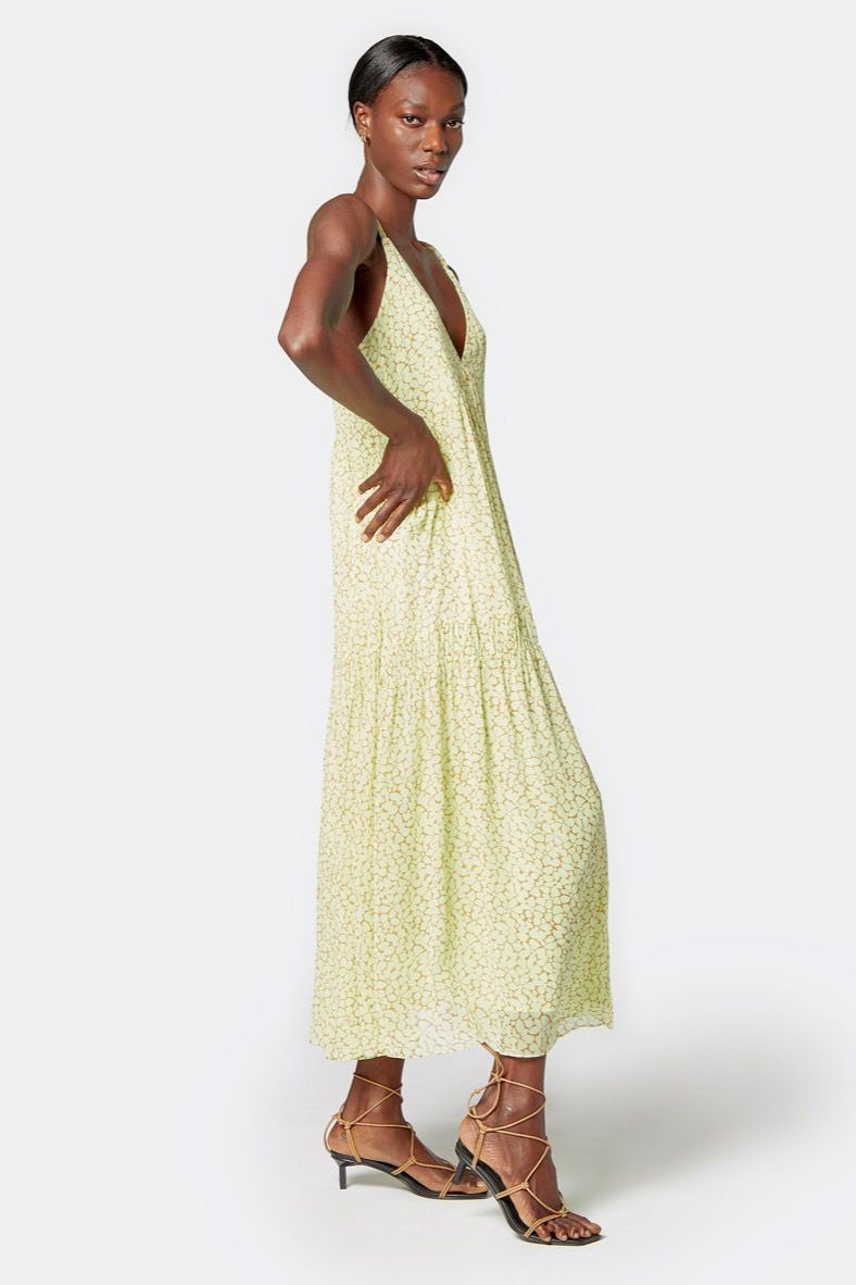 joie bondi dress shadow lime