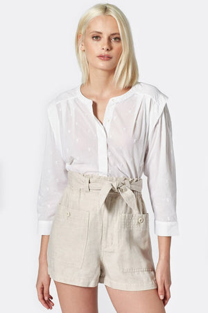 joie broden top clean white