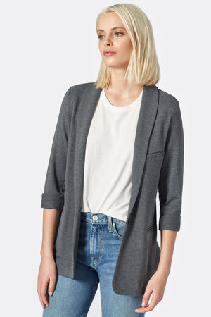 joie neville blazer dark heather grey