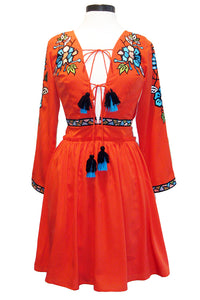 kas new york imperia dress coral
