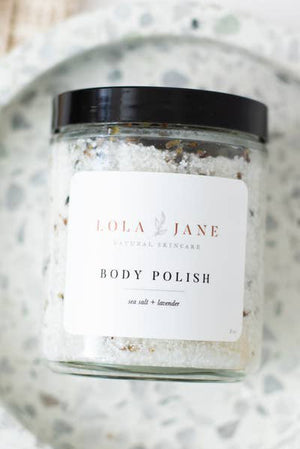 lola jane naturals body polish sea salt and lavender