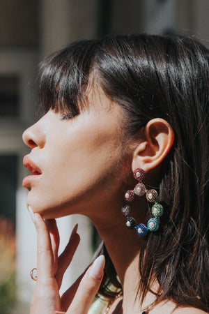 native gem lola earrings
