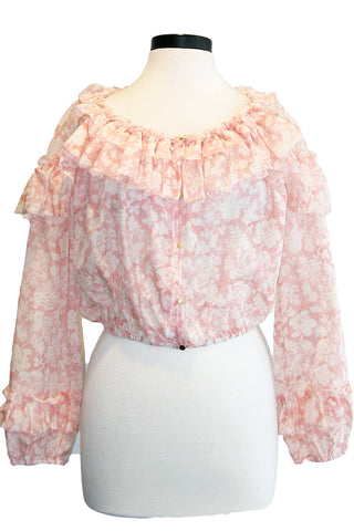 loveshackfancy ruffle popover top
