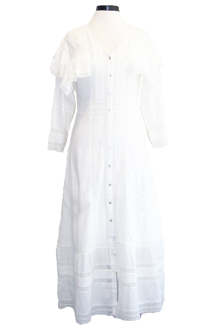 loveshackfancy delphine dress antique white