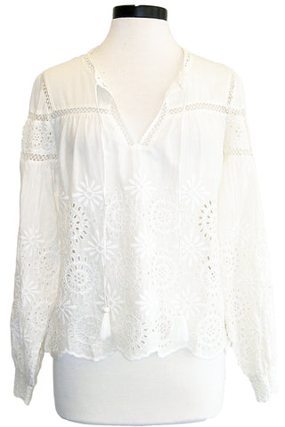 loveshackfancy peasant blouse
