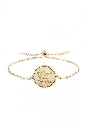 lulu dk follow your dreams enamel bracelet