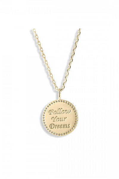 lulu dk follow your dreams enamel necklace