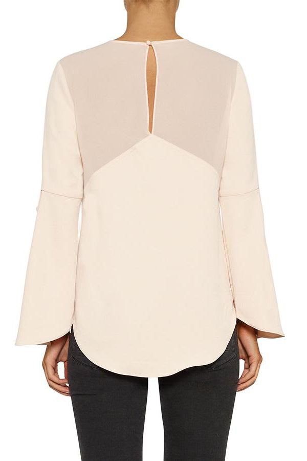luxe deluxe day to night button cuff top