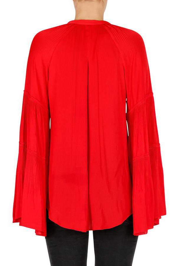 luxe deluxe look twice pleat blouse