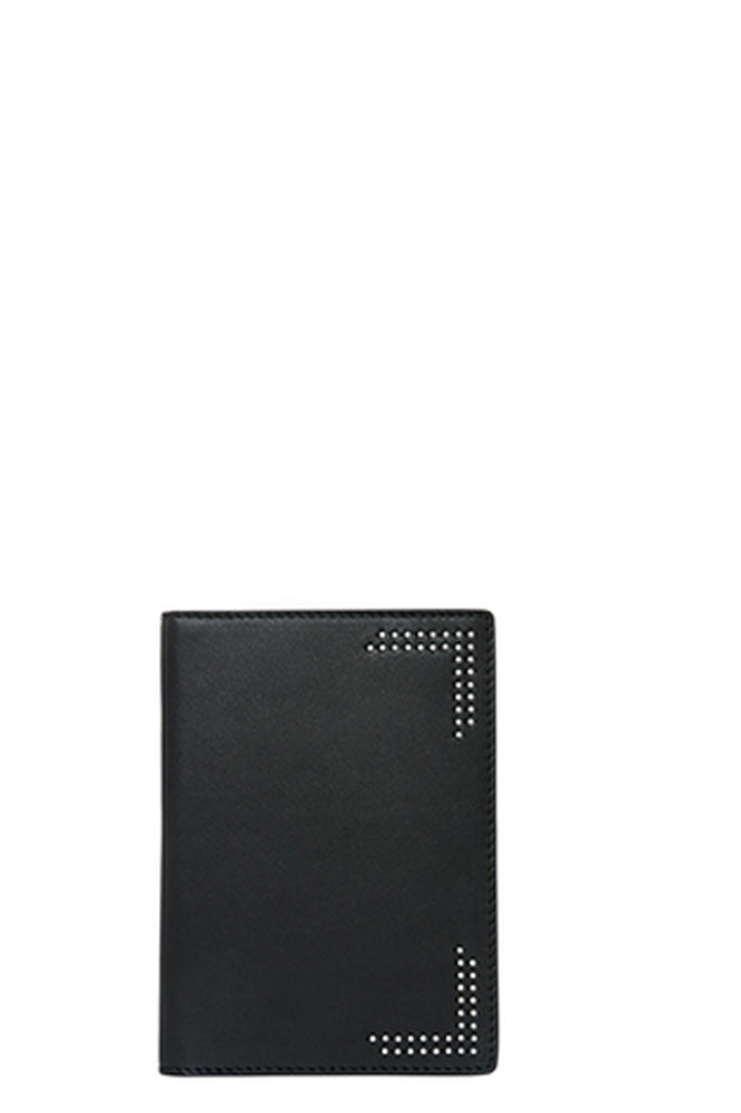 mackage otis passport holder black