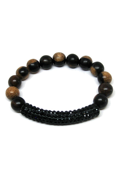 madera tiger ebony bracelet black tube