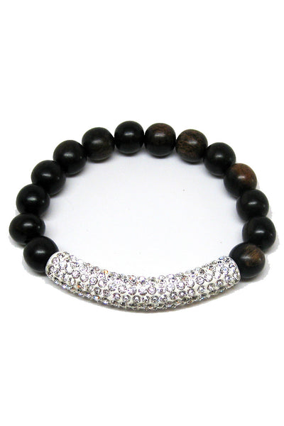 madera tiger ebony bracelet white tube