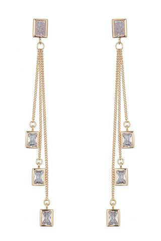 marcia moran leigh earrings white druzy gold crystal
