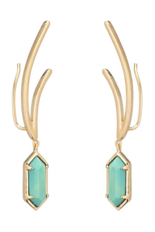 femme rox by marcia moran turquoise earrings